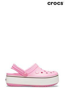 Crocs™ Pink Crocband™ Platform Clogs
