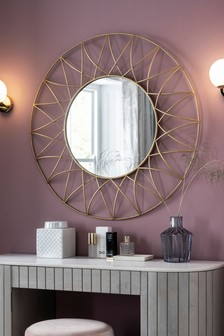 Gold Effect Wire Mirror