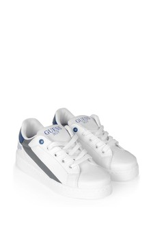 Boys White Branded Trainers
