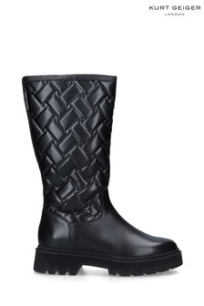 Kurt Geiger London Black Baton Boots