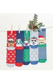 Dog Ankle Socks 5 Pack