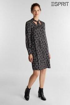 Esprit Black Midi Dress Light Woven