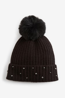 Pearl Effect Beanie Hat (Older)