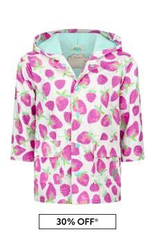Girls Pink Delicious Berries Raincoat