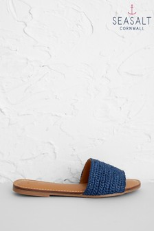 Seasalt Navy Shell Strewn Sandals