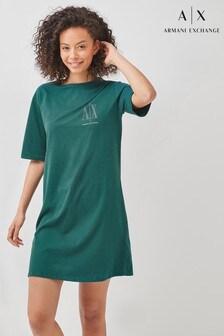 Armani Exchange Stud Icon Logo Dress