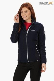 Regatta Blue Womens Kestor Full Zip Fleece Jacket