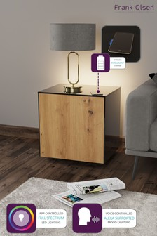 Frank Olsen Smart LED Black and Oak Lamp Table