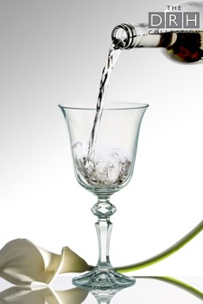 Set of 6 Laura White Wine Glasses By The DRH Collection