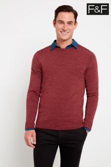 F&F Red Autumn Berry Soft Touch Jumper