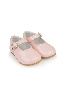 Andanines Girls Pink Patent Shoes