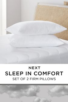 Set of 2 Sleep In Comfort Firm Pillows