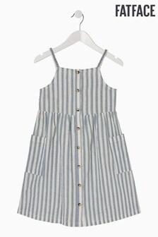 FatFace Blue Sparkle Stripe Dress
