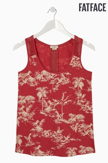 FatFace Red Hallie Flamingo Vest