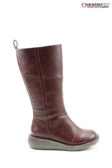 Heavenly Feet Robyn Chocolate Tall Boots