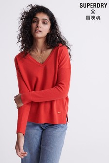 Superdry Edit V-Neck Premium Knitted Jumper