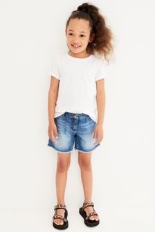 Frayed Hem Denim Shorts (3-16yrs)