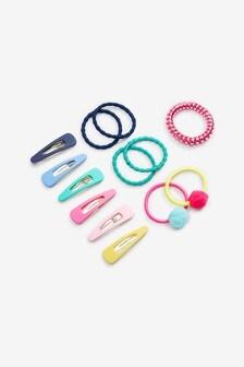 Rainbow Bright Hair Clip & Pony Band Set