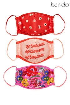 ban.do Set of 3 Positivity Face Coverings