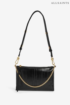 AllSaints Black Eve Crossbody Bag