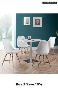 Pisa White Dining Set by Julian Bowen
