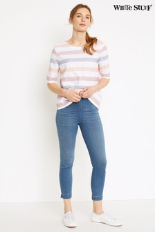 White Stuff Blue Jade Crop Jeggings