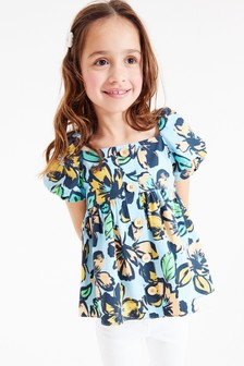Puff Sleeve Button Blouse (3-16yrs)