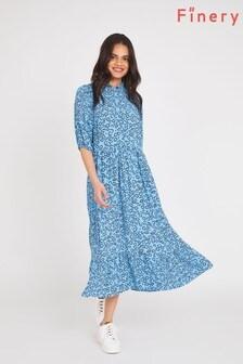 Finery Blue Kyra Heart Print Dress