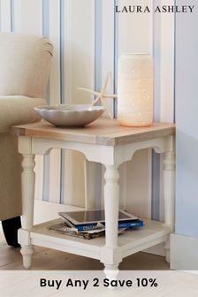 Dorset White Side Table by Laura Ashley