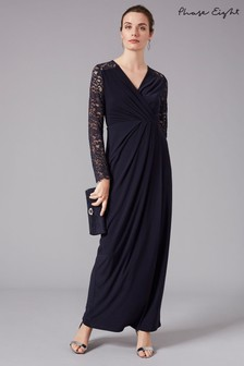Phase Eight Blue Elanor Lace Bridesmaid Maxi Dress