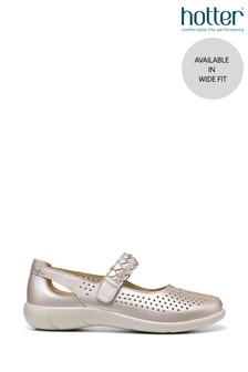 Hotter Quake Wide Fit Touch Fastening Mary Jane Shoes