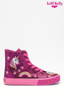 Lelli Kelly Silver Unicorn Glitter Trainers