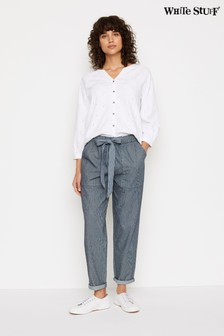 White Stuff Blue Albarn Trousers