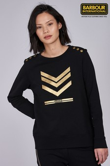 Barbour® International Black Scorpion Gold Logo Sweatshirt