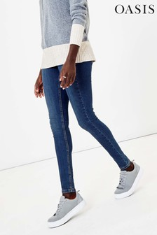 Oasis Blue Washed Jade Skinny Jeans