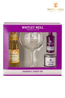 Raspberry Gin 5cl Candle Tonic And Glass Gift Set by Whitley Neill