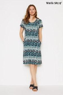 White Stuff Blue Selina Fairtrade Dress