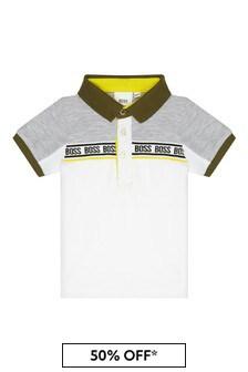Boss Kidswear BOSS Baby Boys Grey Cotton Poloshirt