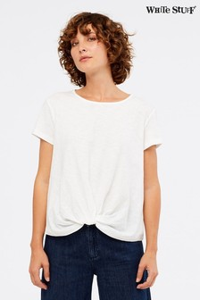 White Stuff White Forget Me Knot Jersey T-Shirt