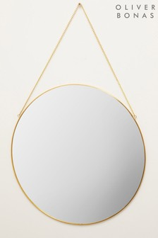 Oliver Bonas Gold Large Round Wall Mirror