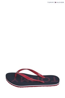 Tommy Hilfiger Blue Tommy Footbed Flip Flops