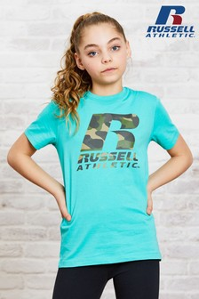 Russell Athletic Girls Camo Logo T-Shirt