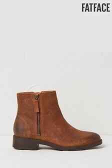 FatFace Brown Calshot Zip Boots