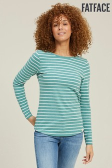 FatFace Green Organic Cotton Breton T-Shirt
