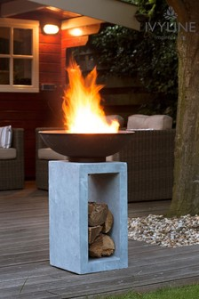 Firebowl Cement Square Console by Ivyline