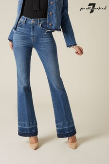 7 For All Mankind Mid Blue Slim Jeans