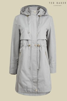 Ted Baker Sameerr Drawstring Waist Mac Coat