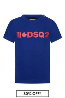 Baby Blue Cotton Logo T-Shirt