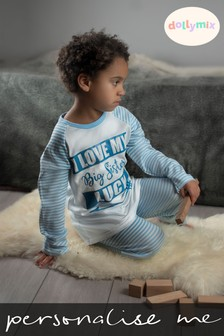 Personalised I Love My Big Brother Pyjamas by Dollymix