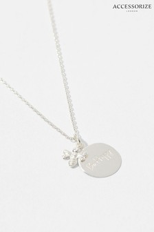 Accessorize Sterling Silver Bee Happy Necklace
